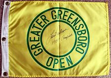 LARRY NELSON Signed Autographed Greater Greensboro Open Course Flown Flag, JSA