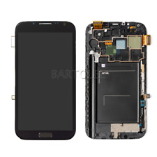 For Samsung Galaxy Note 2 II N7100 LCD Touch Screen Frame Display Digitizer Grey