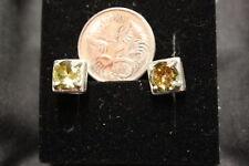 Natural Peridot Sterling Silver Fine Earrings