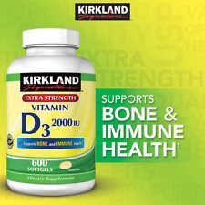 Kirkland Signature Vitamin D3 2000 IU 600 Softgels