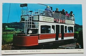 SEATON TRAMWAY, TRAMCAR AT COLYFORD, DEVON - POSTED POSTCARD IN 1980