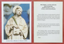 Santino Holy Card: S. Santo Stefano - Andrea della Robbia