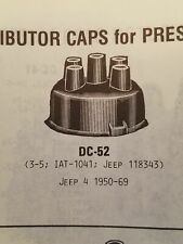 Valley Forge Distributor Cap DC-52 NOS