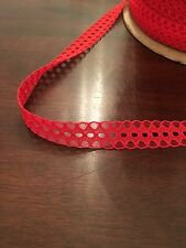 "Decorative 3/4"" Red Trim Lace ( 1 Roll: 273 Yd) Brand New"