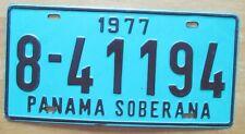 Panama 1977 SOBERANA License Plate HIGH QUALITY # 8-41194
