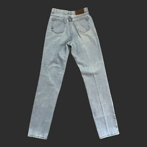 Vintage Calvin Klein Womens 6 28x32 Light Wash Blue High Rise Mom Tapered Jeans