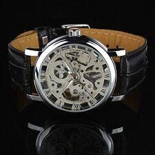 d21982125d570 Montre ESS mécanique Homme Garçon Noir Bracelet Cuir solde pour lui Fashion