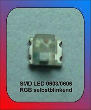 10 x LED SMD 0603/606 RGB destellante colores cambiantes automáticamente Flash