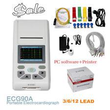 CONTEC ECG90A Digital 12-Lead ECG EKG Machine Electrocardiograph,Touch, Software