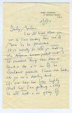 Noel COWARD (Playwright): Autograph Letter to Marlene DIETRICH (Film)