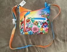 Bulgarian Leather Hand Painted Cross Body Purse Shoulder Bag eXOtique