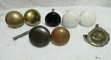 vintage door knobs, glass, ceramic, brass & metal lot T