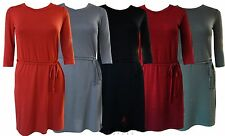 Womens Ladies Boohoo Style Lovely Smart Stretch Fit Summer Tie Belt Dress G1016