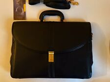 New GEORGETOWN Leather Designs Black Large Leather Shoulder Briefcase With amiet
