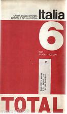 Italia Carta delle strade dei vini e della cucina=Total 1968=Sud scala 1:500.000