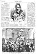 Breach of Promise Trial  -  Effie Carstang vs. Henry Shaw - Trial Scene - 1860