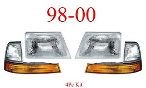 98 00 Ford Ranger 4Pc Head & Park Light Kit, Parking, Complete Assemblies