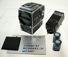Hasselblad 6x6 500el/m CROMO a12n nuovi caricabatterie batterie new batteries Charger Top