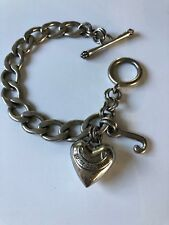 Juicy Couture Bracelet Silver Tone with Heart Charm