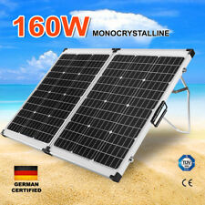 160W Folding Solar Panel Kit 12V Mono Charging Caravan Boat Camping 160Watt