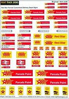 00 gauge Red Star Parcels Customised Delivery depot / station signs, OO scale
