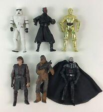 Star Wars Toy Darth Vader No Mask Stormtrooper Figures 6pc Lot Hasbro A2