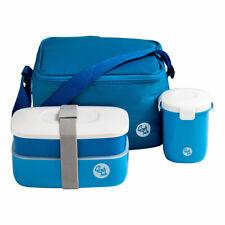 Grub baignoire Lunch Box avec Couverts & d'étanchéité coupe en Cool Sac Bleu