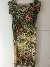 VIVIENNE WESTWOOD RED LABEL FLORAL PRINTED STRETCH DRESS SIZE SMALL S