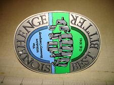 STONEHENGE – BEST BITTER - POS Beer Tap Handle Emblem Badge UK England NR