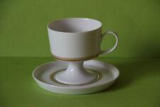 Rosenthal Composition Goldbordüre Kaffeetasse und Untertasse Tasse Gedeck Untere