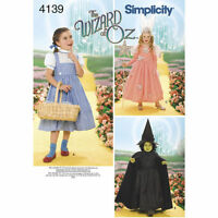 Wizard of Oz Simplicity #4139 Costume Pattern Child Cosplay Size A 3-8