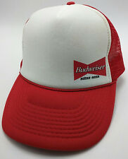 BUDWEISER BEER trucker style red / white adjustable cap / hat