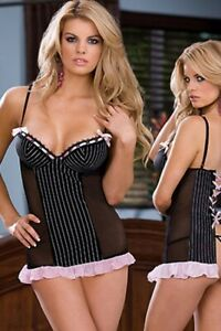 Sexy Lingerie Black & Pink Sexy Babydoll