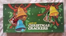 Vintage antique squirrel Christmas crackers made in England in vcg