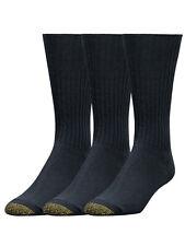 Gold Toe Men's Cotton Fluffies Crew Premium Dress Socks - 3 Pack
