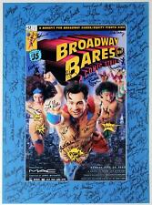BROADWAY BARES Comic Strip 2002 Cast Rachelle Rak Signed Poster