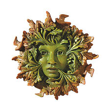 Greenwoman Wall Sculpture Tree Leaf Face Somerset Mother Nature Statue
