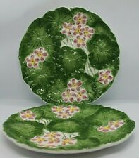 Jay Willfred Majolica Water Lillies set of 2 small plates