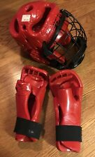 Macho Rival Martial Arts Sparring Head Gear W/Sparring Gloves Large