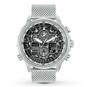 Citizen Promaster NaviHawk Chrono AT Black Dial Mesh Band Men's Watch JY8030-83E