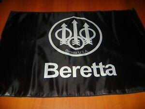 Beretta M92 Handgun Flag Polyester Black Beretta Flag Deco Mancave 2nd carry gun