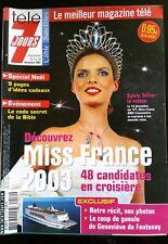 TELE 7 Jours Magazine 7/12/2002; Miss France/ Sylvie Tellier/ Brad Pitt/ Touzet