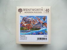 Wentworth wooden puzzle 40 pieces Migration animals artgame new rare unopened