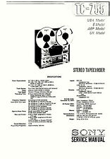 SONY TC-755 TAPE DECK SERVICE MANUAL 60 Pages