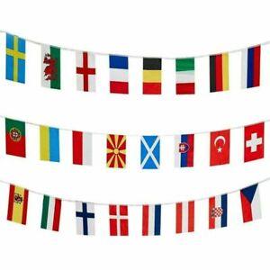 BUNTING 2021 EUROS All 24 Qualified Football Teams European Flags Fabric Banner