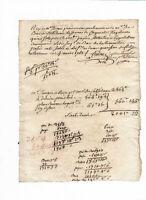 1762 receipt manuscript letter damaged