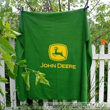 BonEful FABRIC Fleece Blanket Quilt LARGE Throw 50X60 Lg John Deere Farm Tractor