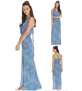 Freya Summer Tide Beach Dress 4477 Full Length Maxi Dress Beachwear Small UK 10