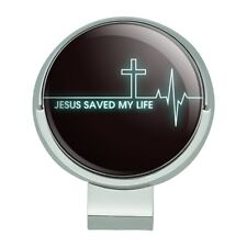 Jesus Saved My Life Christian Golf Hat Clip With Magnetic Ball Marker