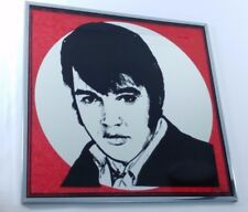 Elvis Presley Picture Vintage Mirror Black And Red Unknown Year